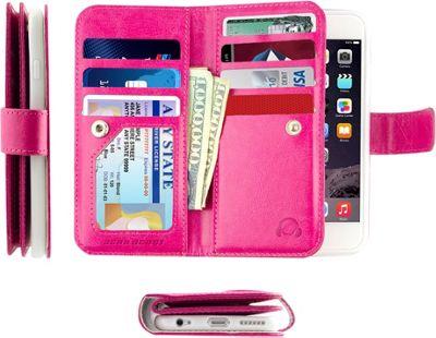 Gear Beast Dual-Folio Wallet iPhone 6 Plus Case Pink - iPhone 6 Plus - Gear Beast Electronic Cases