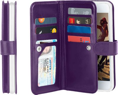 Gear Beast Dual-Folio Wallet iPhone 6 Plus Case Purple - iPhone 6 Plus - Gear Beast Electronic Cases