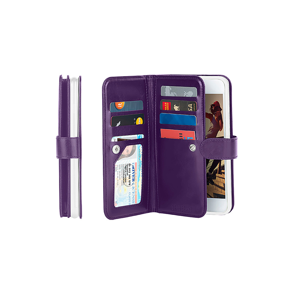 Gear Beast Dual Folio Wallet iPhone 6 Plus Case Purple iPhone 6 Plus Gear Beast Electronic Cases