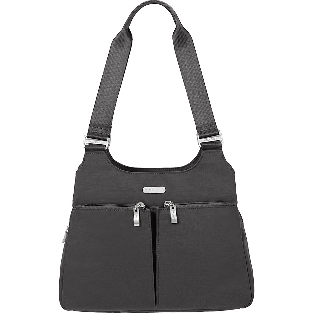 baggallini Satchel with RFID Charcoal - baggallini Fabric Handbags - Handbags, Fabric Handbags