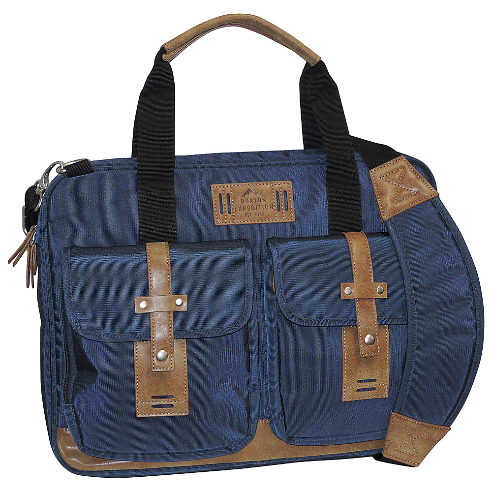 Buxton Expedition II Trekker Laptop Brief Navy - Buxton Non-Wheeled Business Cases - Work Bags & Briefcases, Non-Wheeled Business Cases