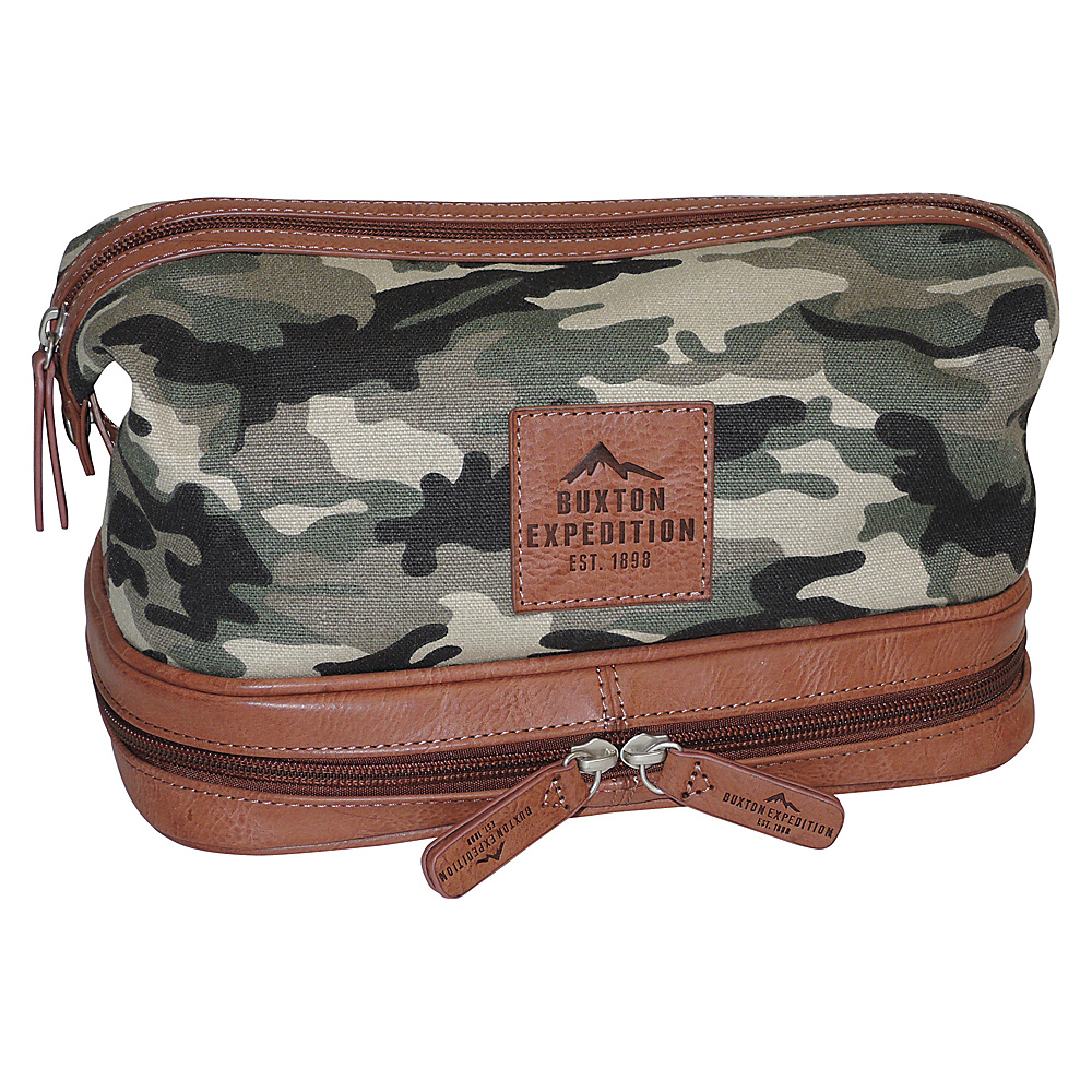 Buxton Expedition II Huntington Gear Bottom Zip Travel Kit Camouflage - Buxton Toiletry Kits - Travel Accessories, Toiletry Kits