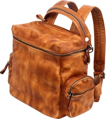 Old Trend Old Trend Spring Lark Backpack Cognac - Old Trend Leather Handbags