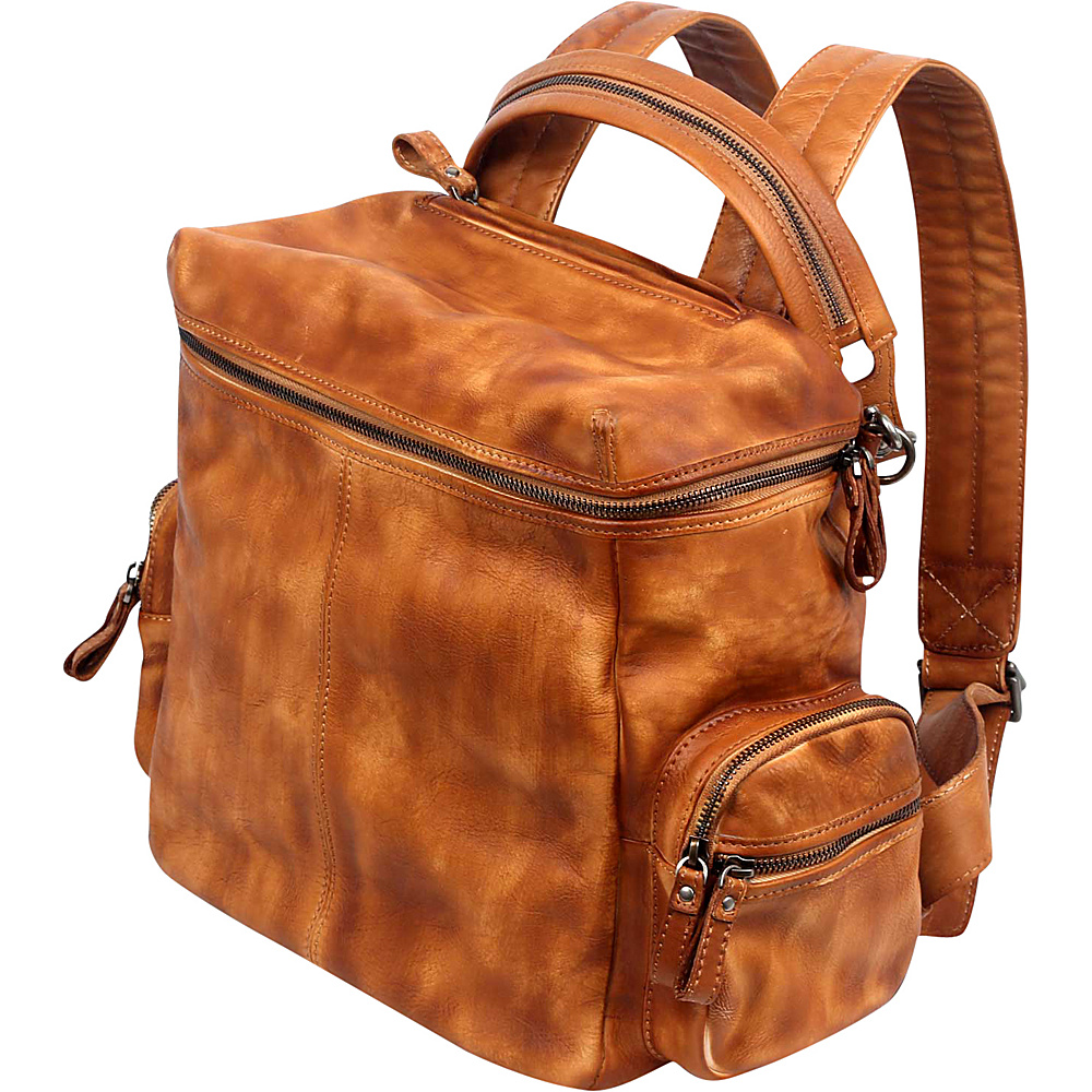 Old Trend Spring Lark Backpack Cognac Old Trend Leather Handbags