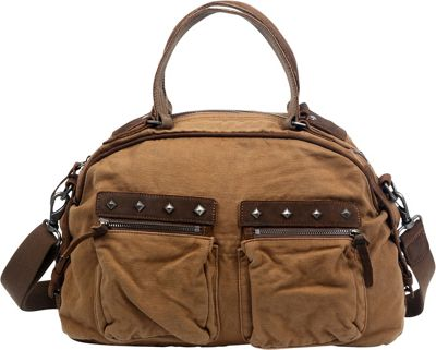 TSD Fiddle Bow Satchel Camel - TSD Fabric Handbags