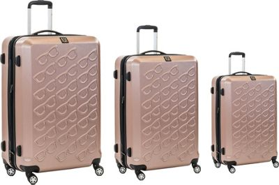 ful Sunglasses 3 Piece Spinner Luggage Set Gold - ful Luggage Sets