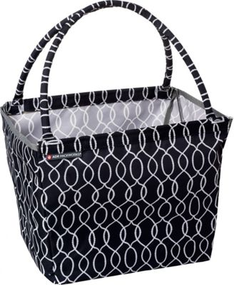 ADK Packworks Market Basket - Prints Black Ogee - ADK Packworks All-Purpose Totes