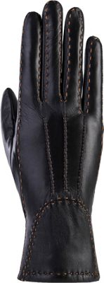 MoDa Womens Stitched Winter Gloves S - Black 2XL - MoDa Hats/Gloves/Scarves