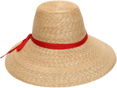 Gottex Cote d'Azur Sun Hat One Size - Natural/Red - Gottex Hats/Gloves/Scarves