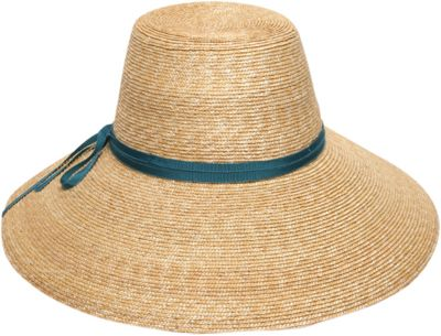Gottex Cote d'Azur Sun Hat One Size - Natural/Teal - Gottex Hats/Gloves/Scarves