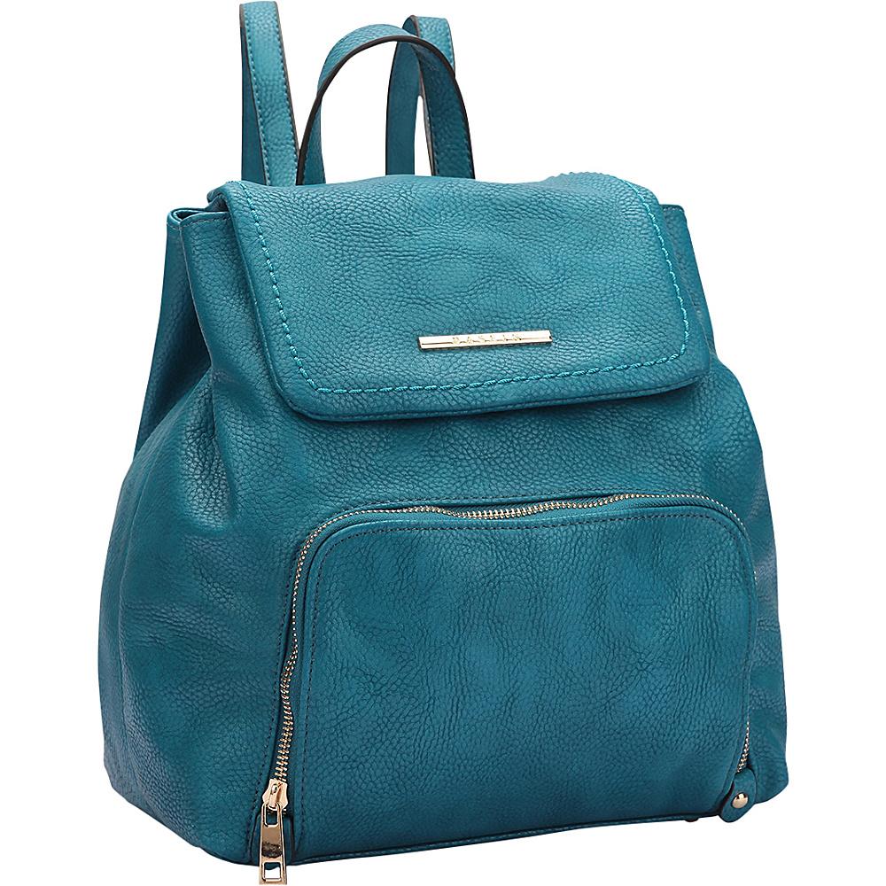 Dasein Classic Backpack Blue - Dasein Manmade Handbags - Handbags, Manmade Handbags