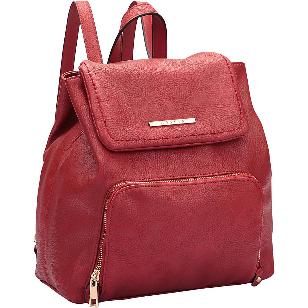 Dasein Classic Backpack Burgundy - Dasein Manmade Handbags - Handbags, Manmade Handbags