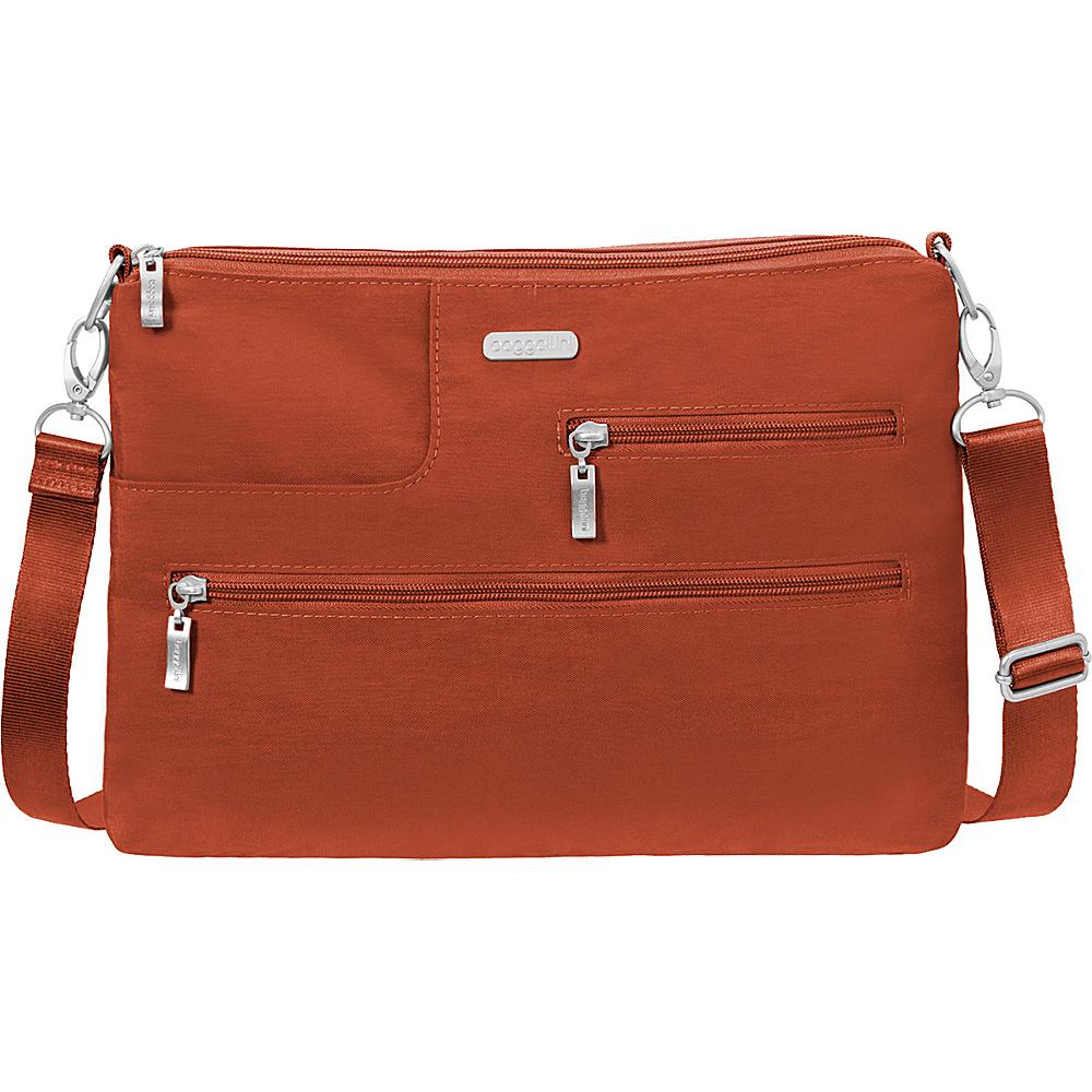 baggallini Tablet Crossbody with RFID - Retired Colors Adobe - baggallini Fabric Handbags - Handbags, Fabric Handbags