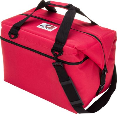 AO Coolers 48 Pack Canvas Soft Cooler Red - AO Coolers Outdoor Coolers