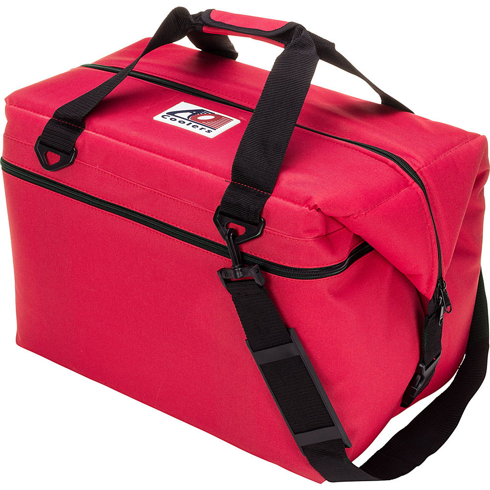 AO Coolers 48 Pack Canvas Soft Cooler Red AO Coolers Outdoor Coolers