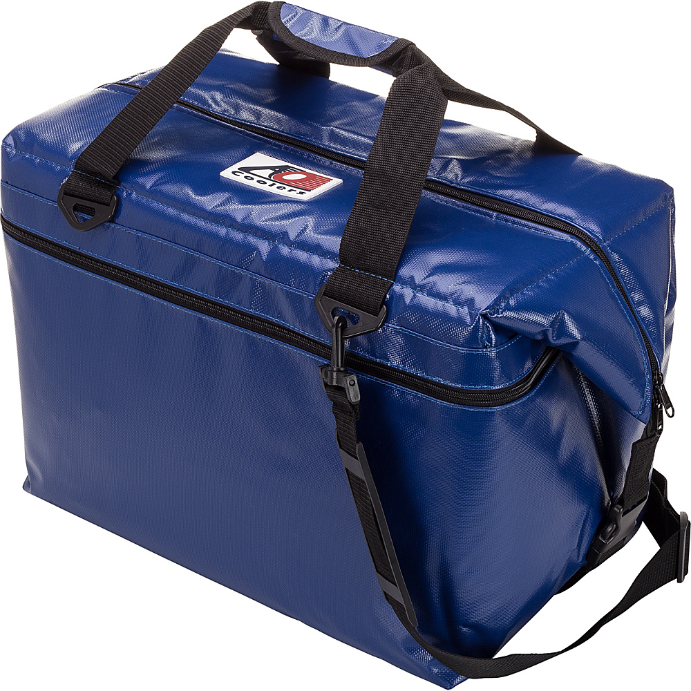 AO Coolers 48 Pack Vinyl Soft Cooler Royal Blue AO Coolers Outdoor Coolers