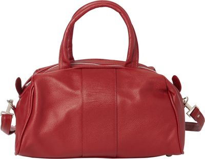 Piel Mini Leather Satchel Red - Piel Leather Handbags
