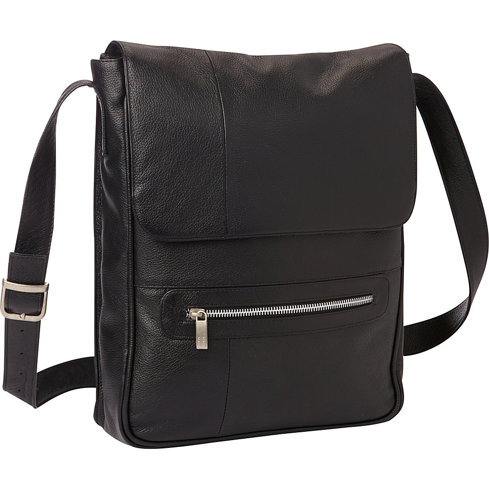 Piel Vertical Leather Laptop Bag Black - Piel Non-Wheeled Business Cases - Work Bags & Briefcases, Non-Wheeled Business Cases