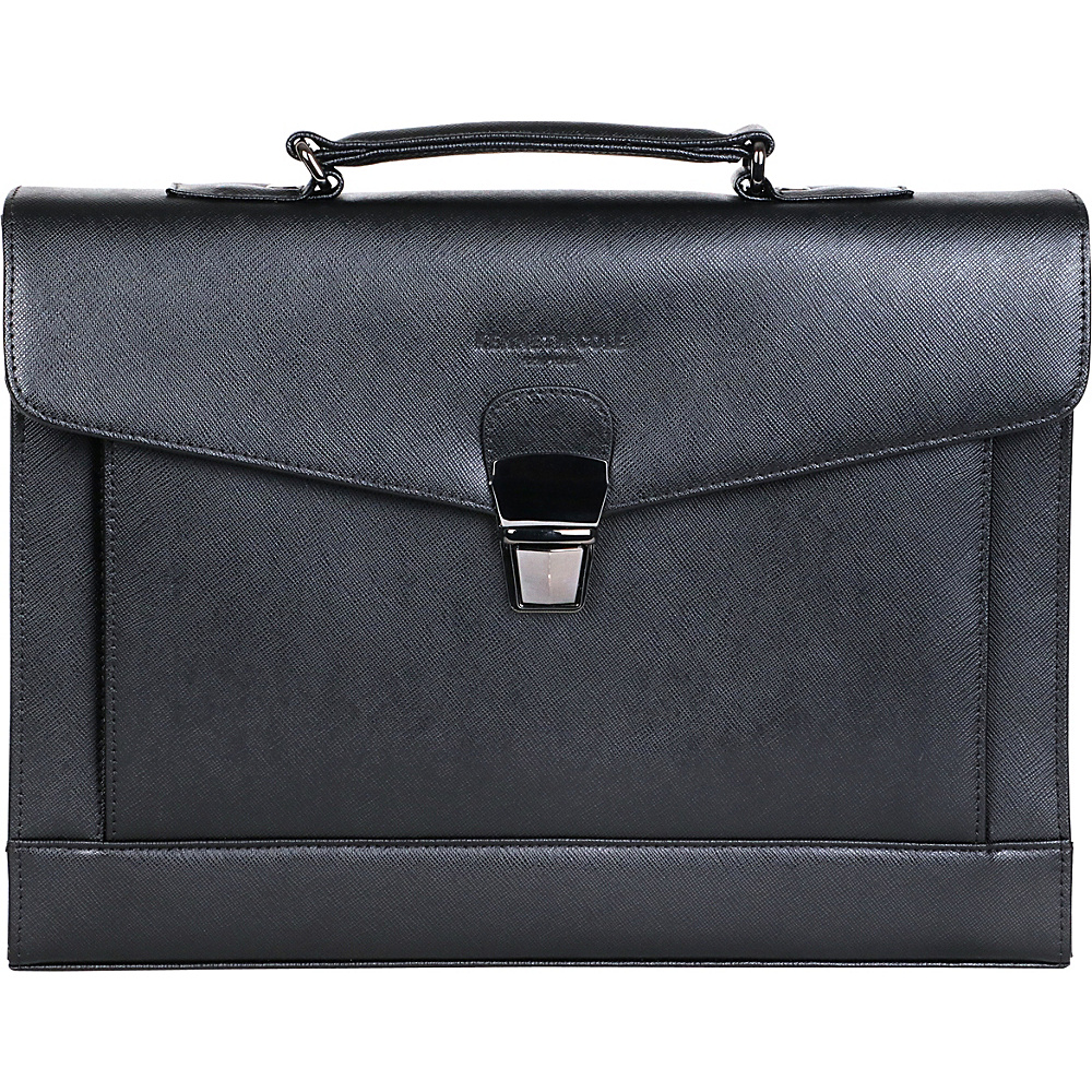 Kenneth Cole New York Business Saffiano Leather Rfid Blocking Flapover Portfolio Black Kenneth Cole New York Business Non Wheeled Business Cases