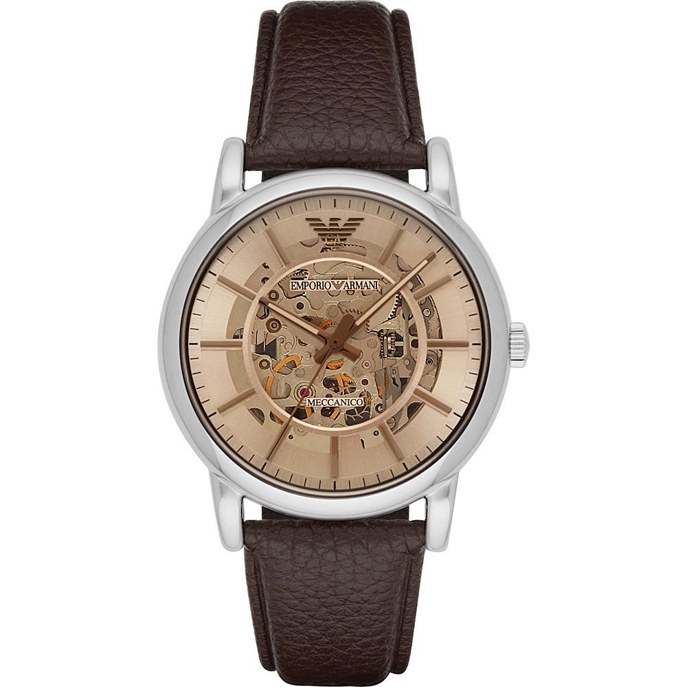 Emporio Armani Dress Watch Brown/Silver - Emporio Armani Watches