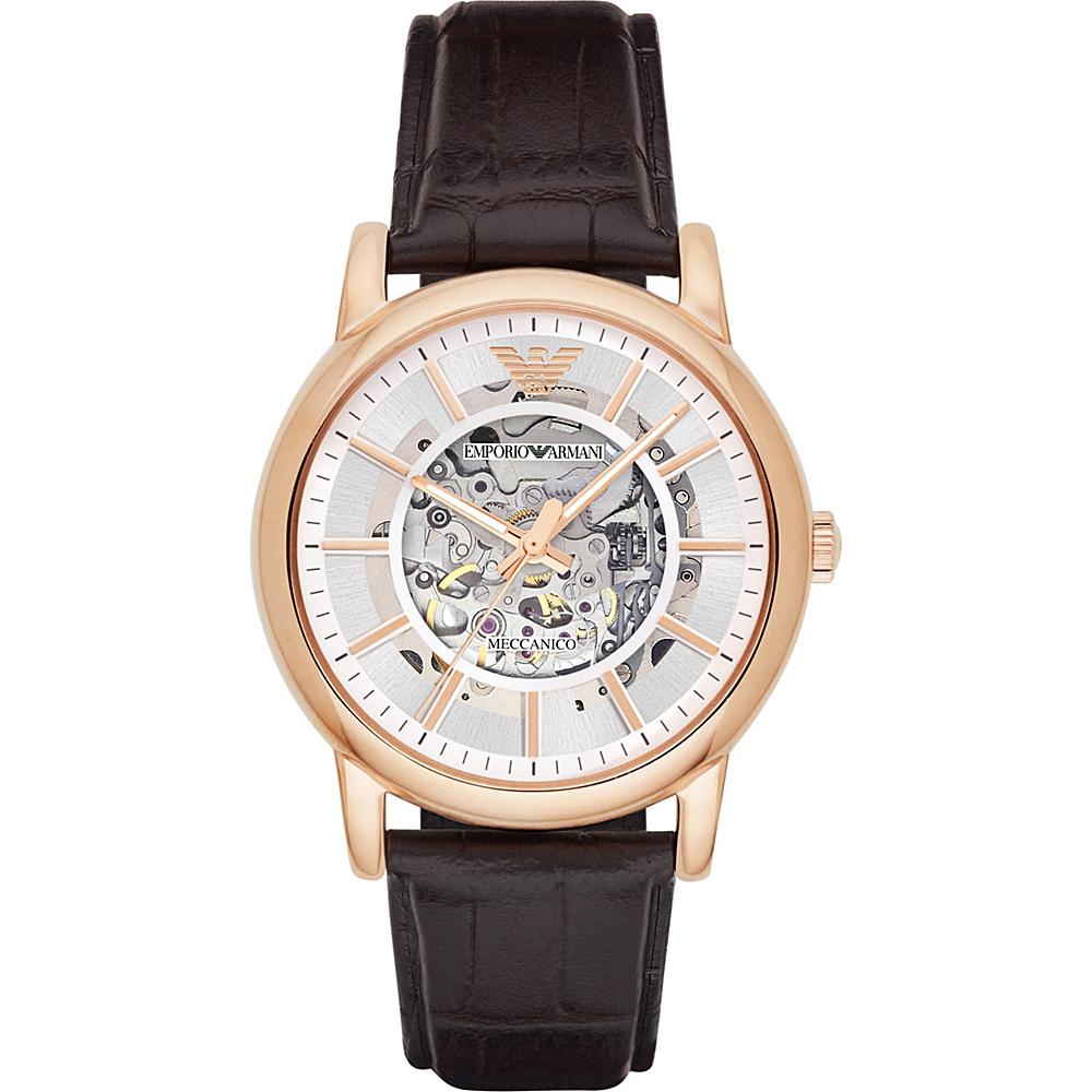 Emporio Armani Dress Watch Brown/RoseGold - Emporio Armani Watches