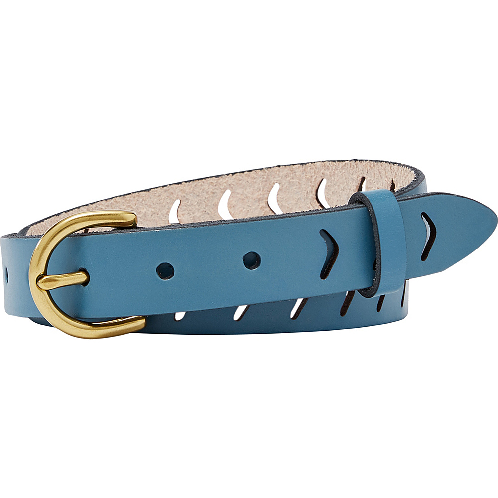 Fossil Arrow Perforated Belt L - Cornflower - Fossil Other Fashion Accessories - Fashion Accessories, Other Fashion Accessories