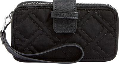 Vera Bradley RFID Smartphone Wristlet - Solid Classic Black - Vera Bradley Women's Wallets