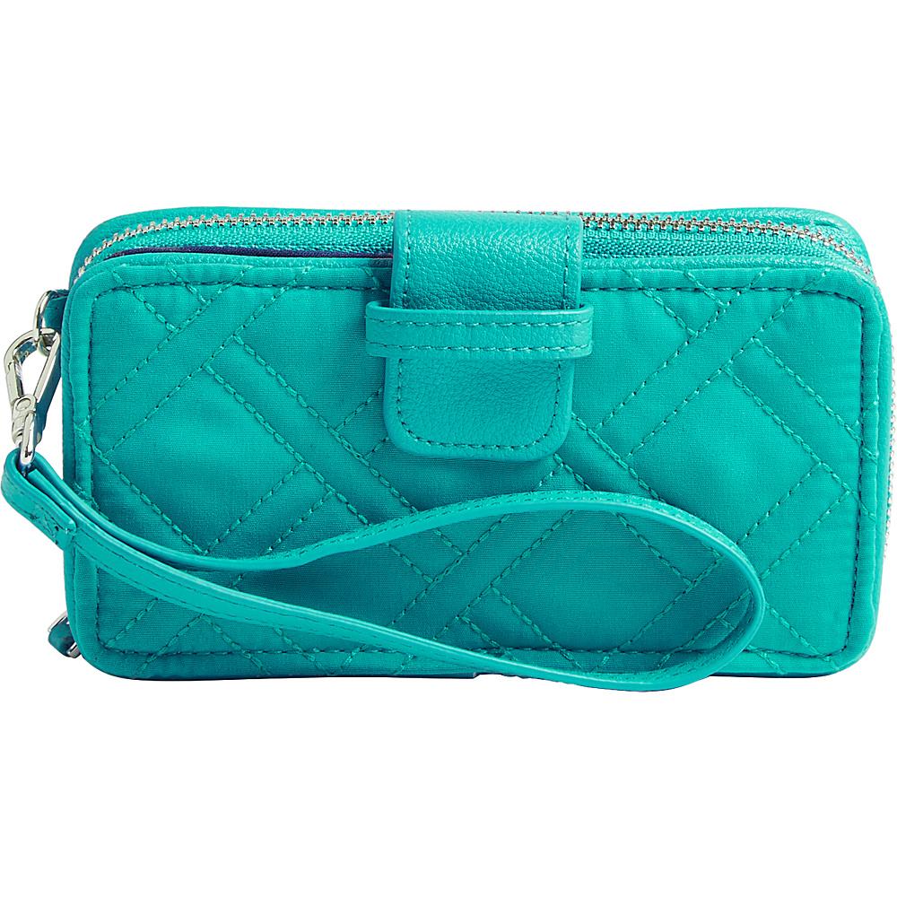Vera Bradley RFID Smartphone Wristlet - Solid Turquoise Sea - Vera Bradley Womens Wallets - Women's SLG, Women's Wallets