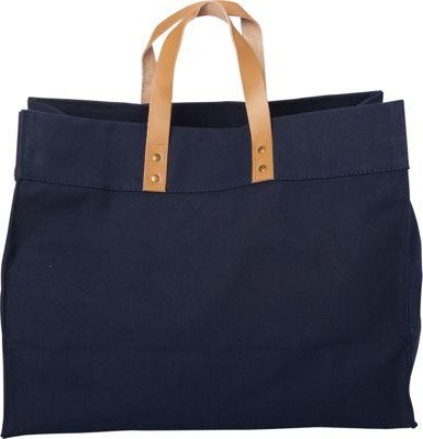 Shorebags Box Tote Navy - Shorebags Fabric Handbags
