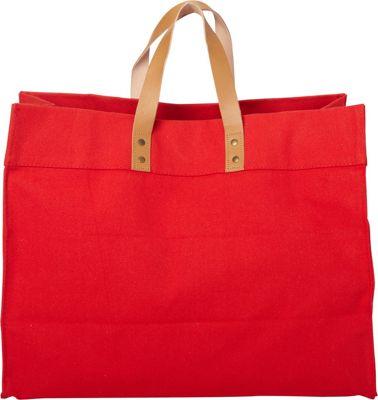 Shorebags Box Tote Cherry Red - Shorebags Fabric Handbags