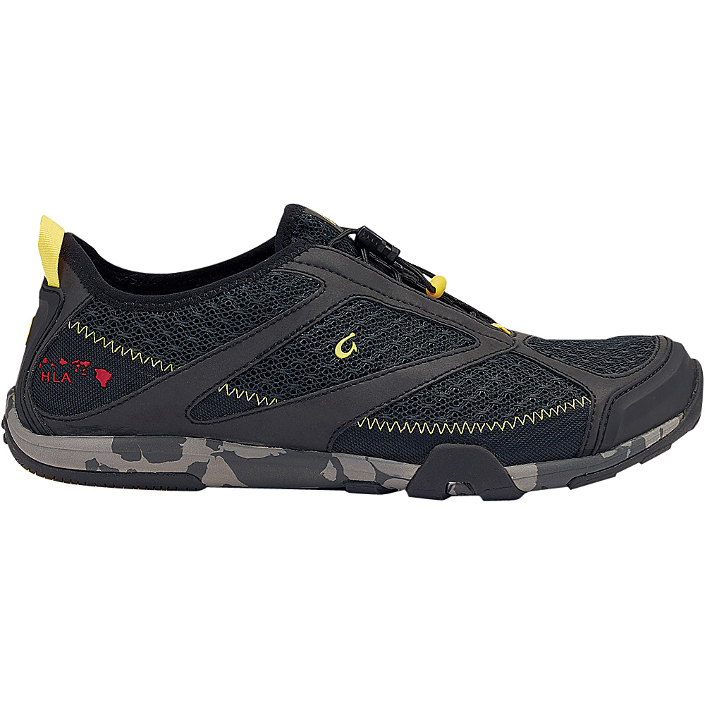 OluKai Mens Eleu Trainer Sneaker 8 - Black/Black - OluKai Mens Footwear - Apparel & Footwear, Men's Footwear