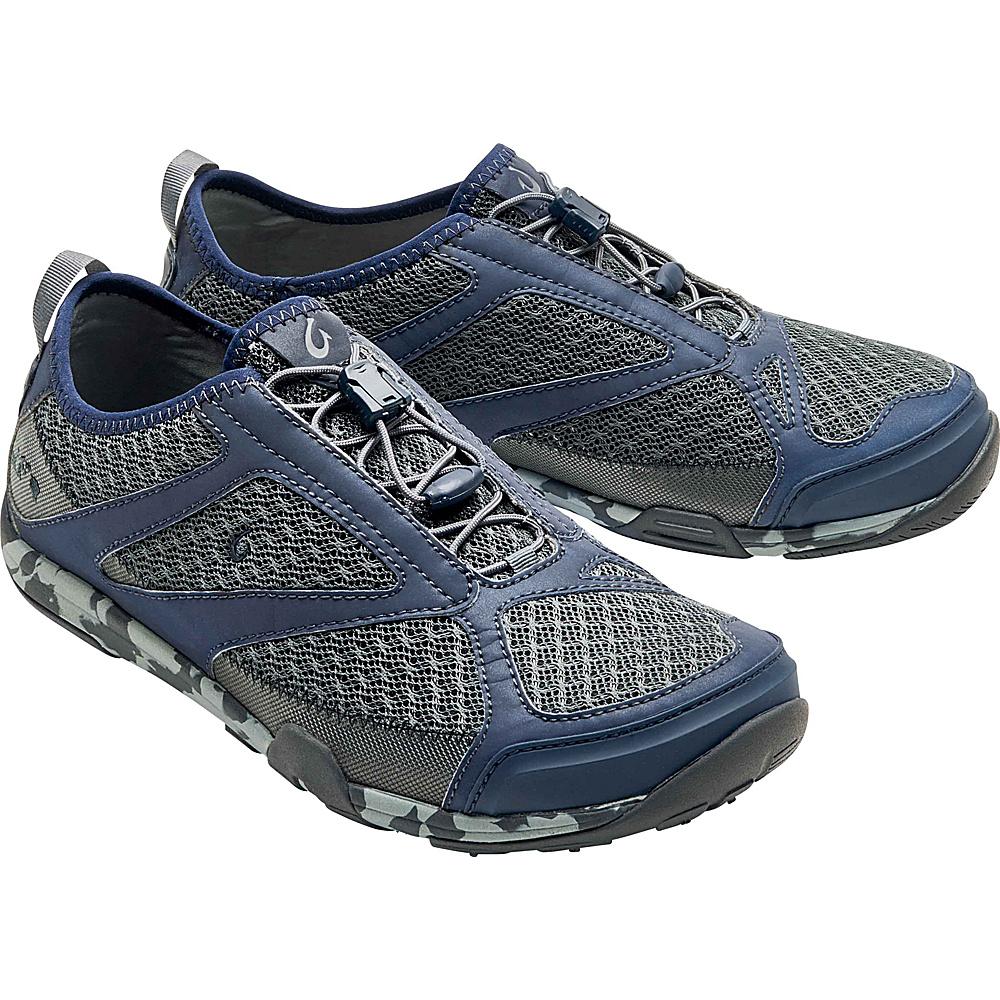 OluKai Mens Eleu Trainer Sneaker 9.5 - Charcoal/Trench Blue - OluKai Mens Footwear - Apparel & Footwear, Men's Footwear
