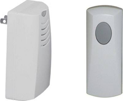 Honeywell Plug-in Wireless Door Chime & Push Button White - Honeywell Smart Home Automation