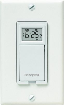 Honeywell 7-Day Programmable Light Switch Timer White - Honeywell Smart Home Automation