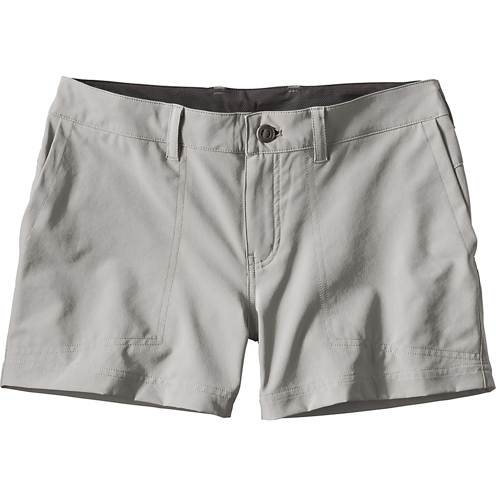 Patagonia Womens Happy Hike Shorts 12 - 5in - Drifter Grey - Patagonia Womens Apparel - Apparel & Footwear, Women's Apparel