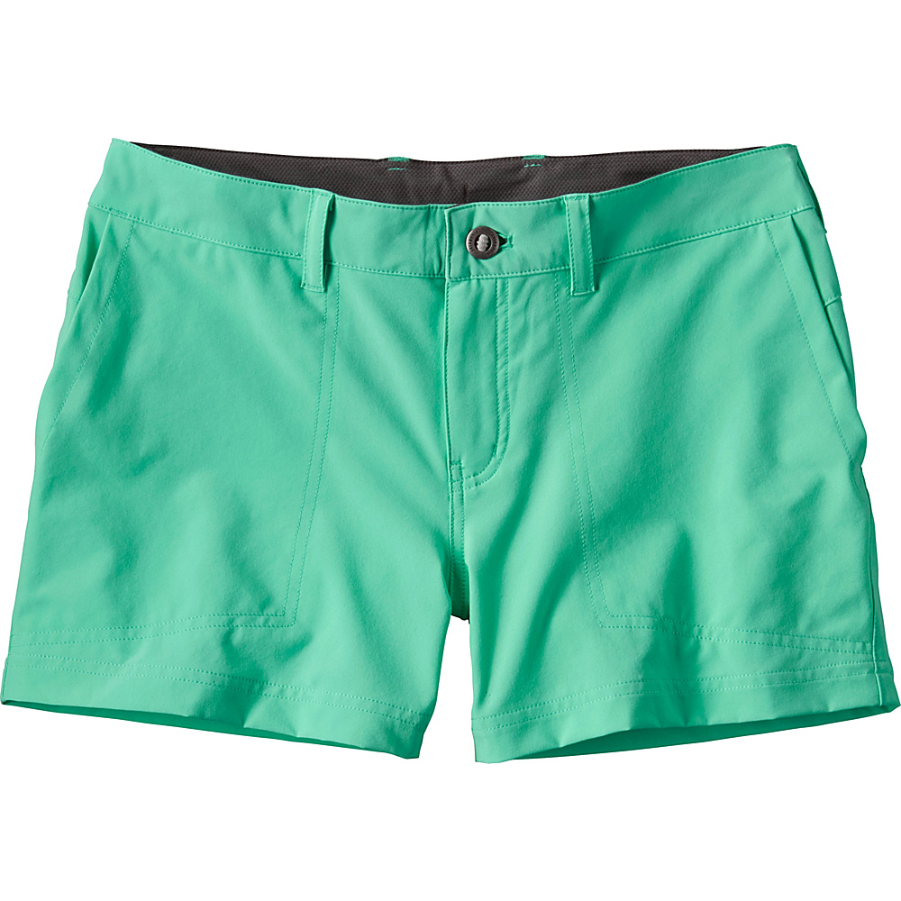 Patagonia Womens Happy Hike Shorts 14 - 5in - Galah Green - Patagonia Womens Apparel - Apparel & Footwear, Women's Apparel