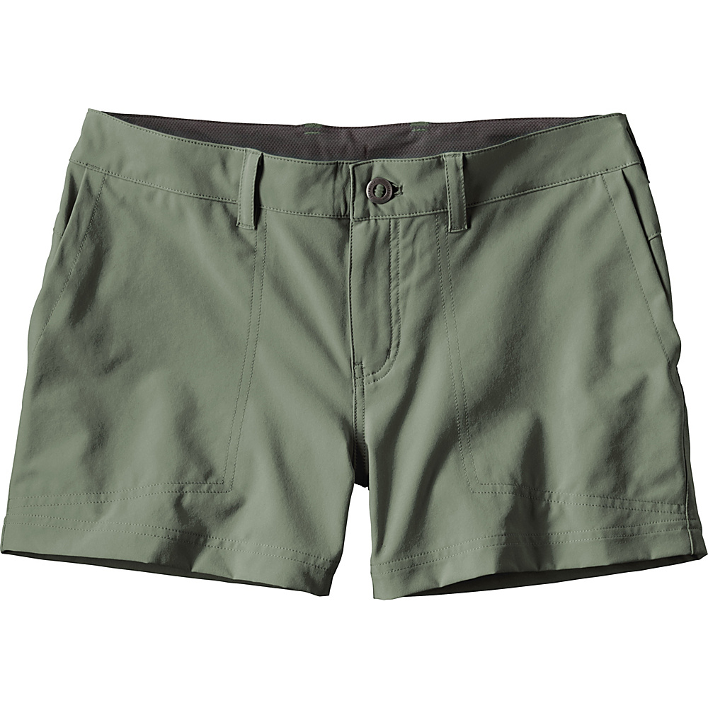 Patagonia Womens Happy Hike Shorts 12 - 5in - Hemlock Green - Patagonia Womens Apparel - Apparel & Footwear, Women's Apparel