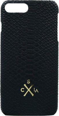 Candywirez Vegan Leather Snap Case for iPhone 7 Plus Matte Black Crocodile - Candywirez Electronic Cases