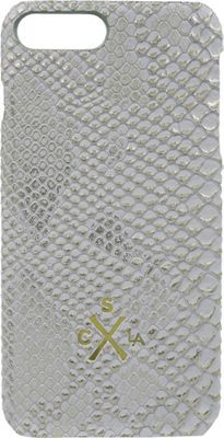 Candywirez Vegan Leather Snap Case for iPhone 7 Plus White Gold Crocodile - Candywirez Electronic Cases