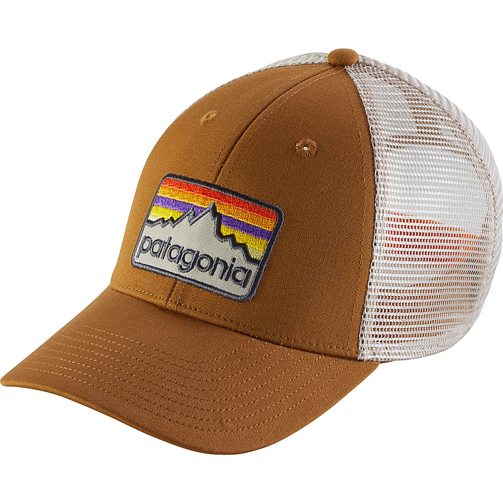 Patagonia Line Logo Badge LoPro Trucker Hat One Size - Bear Brown - Patagonia Hats/Gloves/Scarves - Fashion Accessories, Hats/Gloves/Scarves
