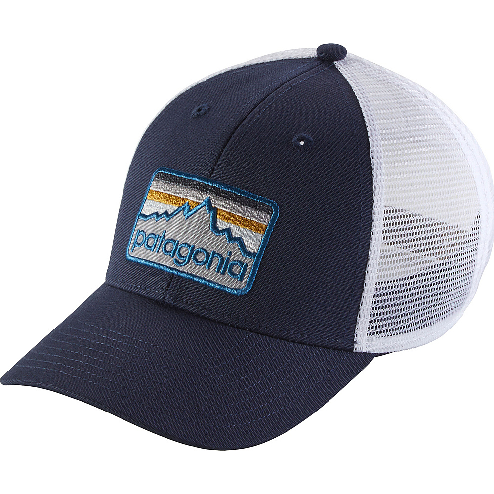 Patagonia Line Logo Badge LoPro Trucker Hat One Size - Navy Blue - Patagonia Hats/Gloves/Scarves - Fashion Accessories, Hats/Gloves/Scarves
