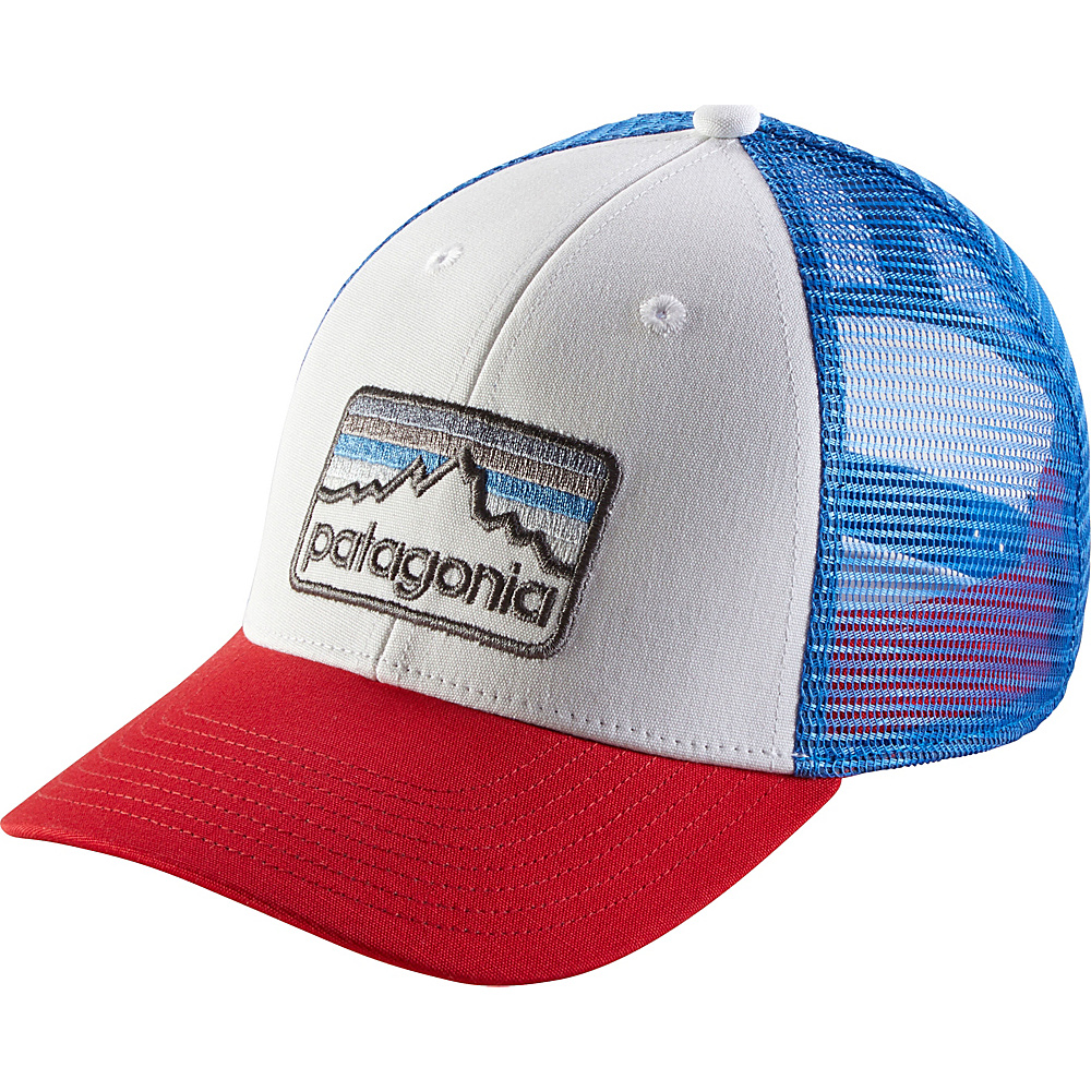 Patagonia Line Logo Badge LoPro Trucker Hat One Size - White - Patagonia Hats/Gloves/Scarves - Fashion Accessories, Hats/Gloves/Scarves