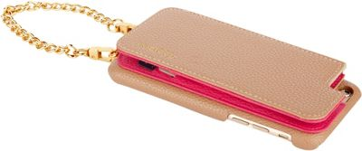 Hello Gorgeous Crossbody Case iPhone 7 & 6/6S Taupe/Pink - Hello Gorgeous Electronic Cases