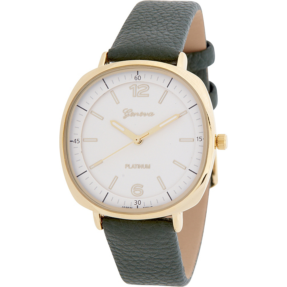 Samoe Womens Square Faced Watch Olive Samoe Watches