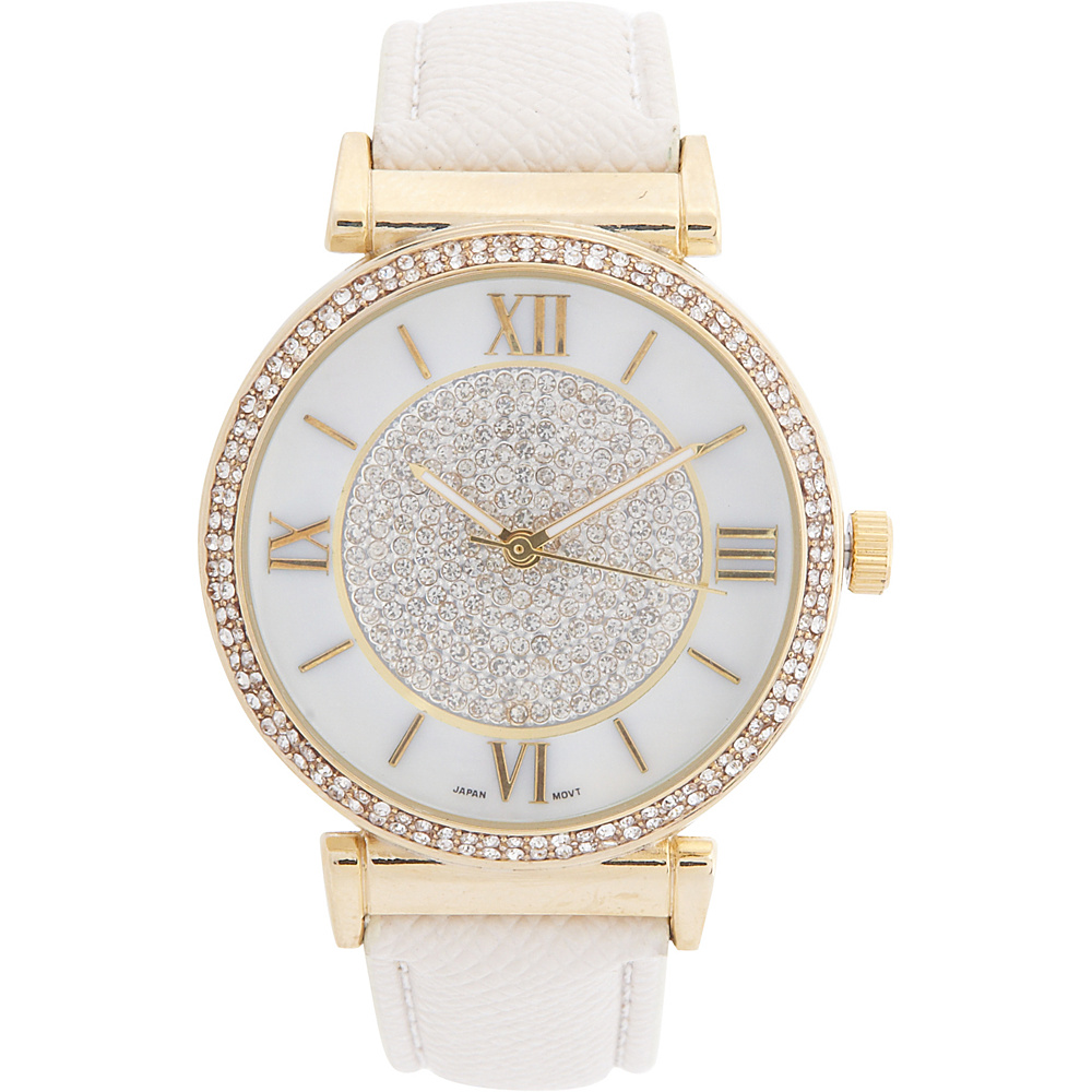 Samoe Jeweled Watch Cream Samoe Watches