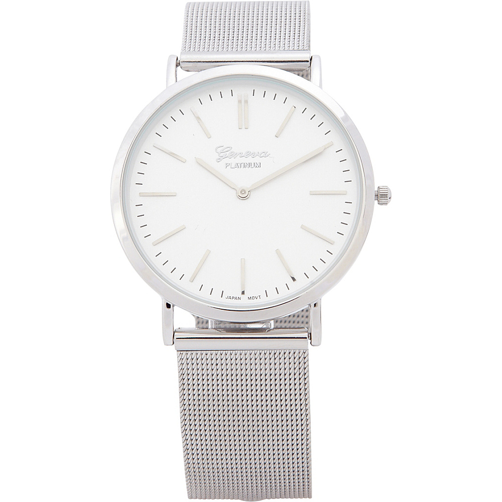 Samoe Womens Mesh Bracelet Watch Silver Samoe Watches