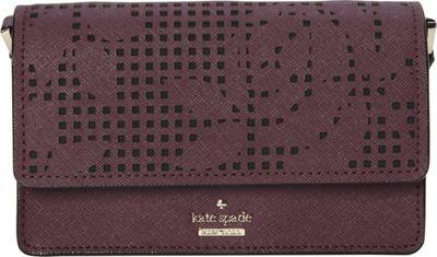 kate spade new york Cameron Street Perforated Arielle Crossbody Deep Plum - kate spade new york Designer Handbags