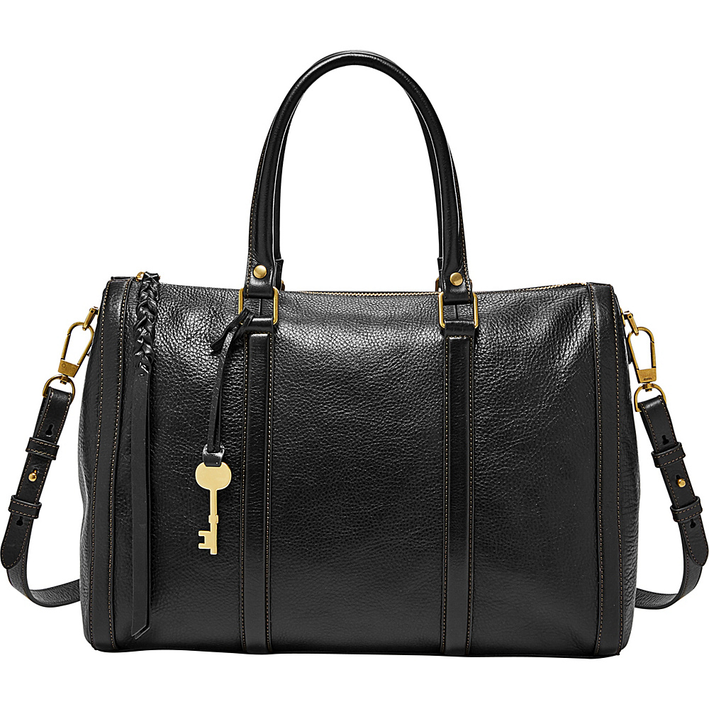 Fossil Kendall Large Satchel Black - Fossil Leather Handbags - Handbags, Leather Handbags