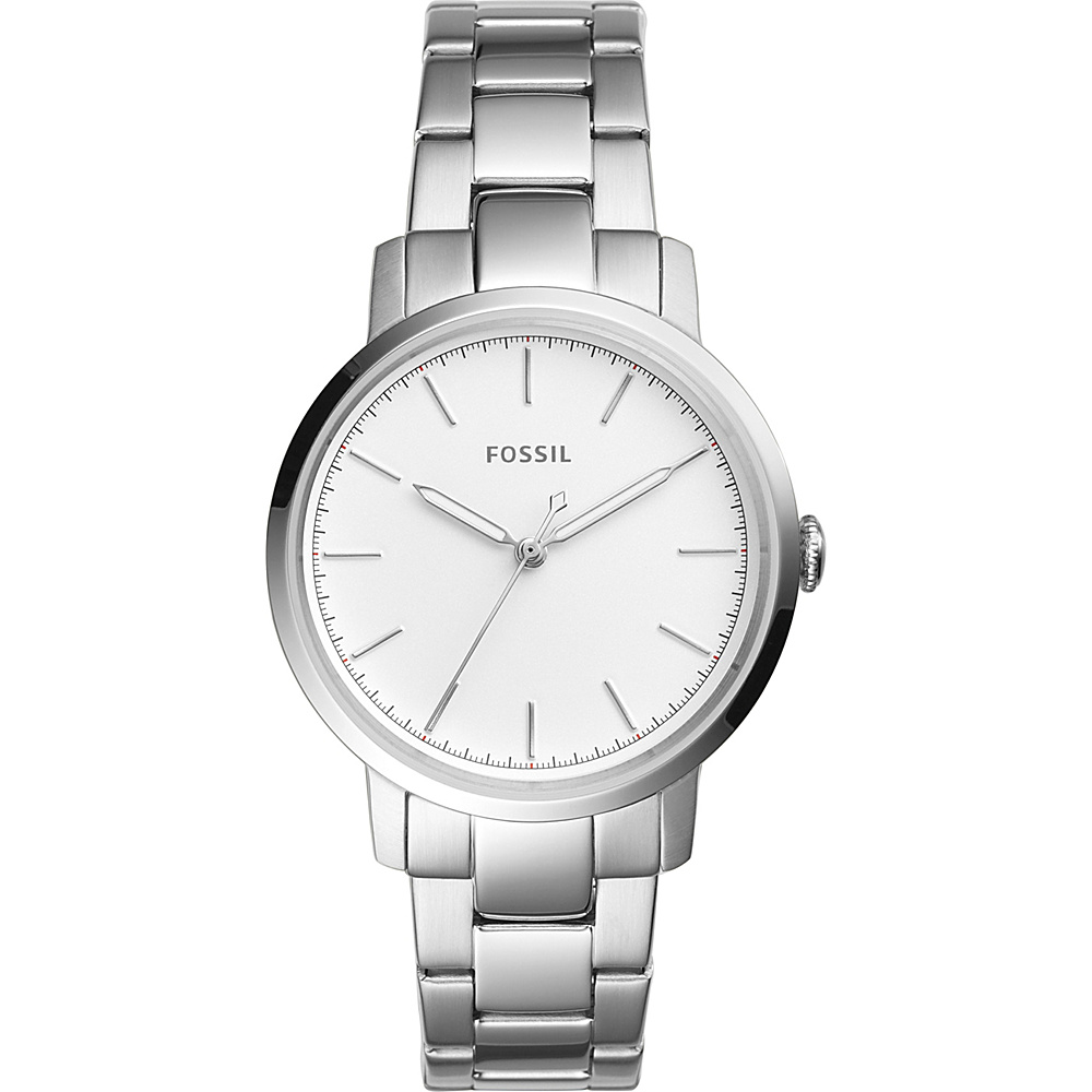 Fossil Neely 3-Hand Stainless Steel Watch Silver - Fossil Watches - Fashion Accessories, Watches