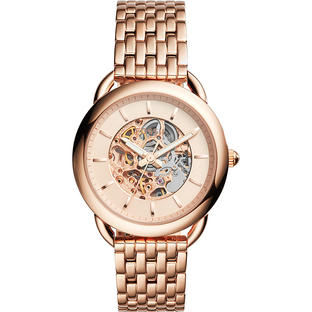 Fossil Tailor 3-Hand Stainless Steel Watch Rose Gold - Fossil Watches - Fashion Accessories, Watches
